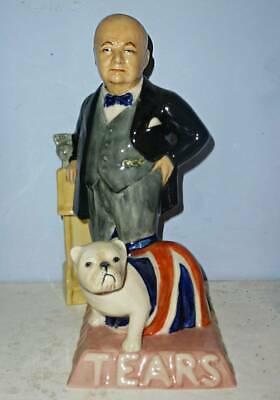 KEVIN FRANCIS Large Toby Jug - POLITICAL WINSTON CHURCHILL • 99.95£
