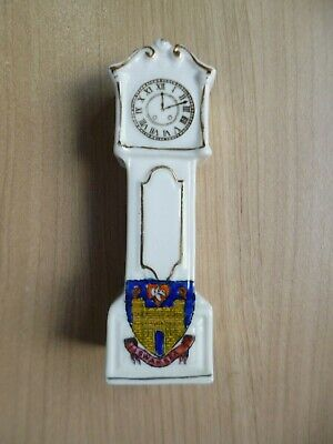 Swansea -  Vintage Crested China Grandfather Clock , Swansea Crest • 7.99£