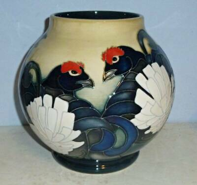 MOORCROFT Trial BLACK GROUSE Vase - REETH By Emma Bossons 2014 • 299.95£