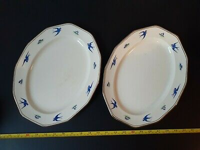 Antique Booths Silicon China   C1925.  2x MEAT PLATTERS  12.5 Inch  • 20£