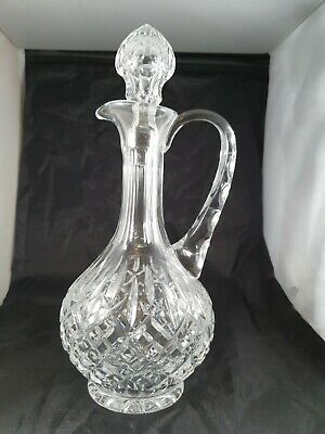 20th Century Cut Glass Crystal Pointed Stopper Claret Jug 31cm • 30£