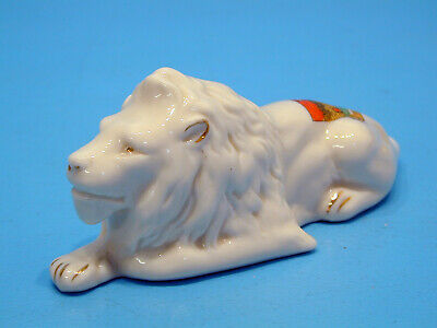 Magnificent Grosvenor Ware Crested China Lion - Trowbridge • 49.99£