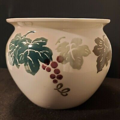 Royal Winton Tradition Spongeware Planter - Toscana Grapes And Vine • 10£