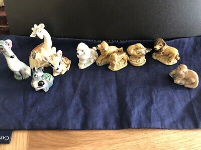 10 Wade Whimsies Inc Disney- Jock-Boris-bambi Lion,Goose,Giraffe ,Otter,Dog X3 • 15£
