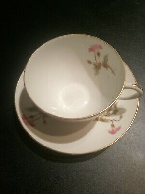 Limoges Porcelain China Ceramic Cup And Saucer France • 4.99£
