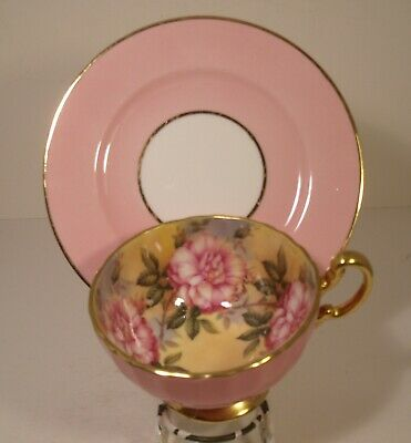 Aynsley Pink Mismatch Floral Cabinet Cup And Shelley Saucer • 50.01£