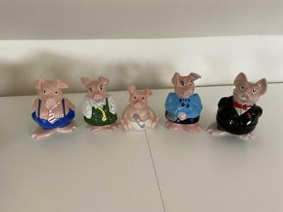 Full Set Natwest Pigs, Excellent Condition All With Original Stoppers • 59£