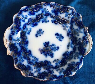 Antique Mintons Flow Blue Plate, C.1850 • 8.99£