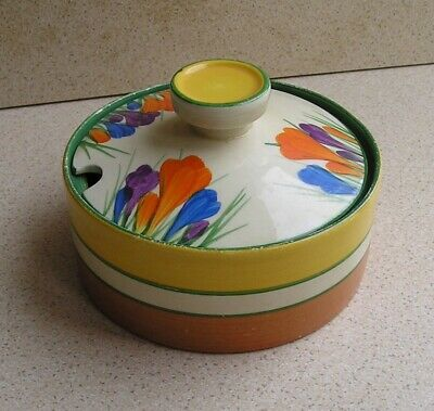 Clarice Cliff Autumn Crocus Lidded Preserve Pot • 50£