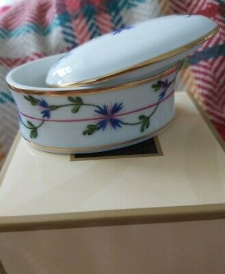 Still In Box Herend Hungarian Hand Painted Porcelain Trinket Box  • 40£