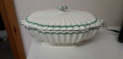 Vintage...spode...spode Imp....large Tureen...white And Green...tableware • 9.95£