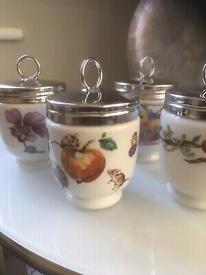 4 X Royal Worcester Double Egg Coddlers • 20£