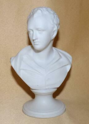 Small Staffordshire Parian Bust Of Lord Byron C1880 • 30£
