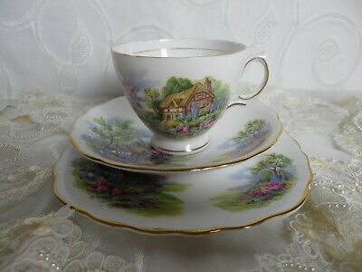 Vintage Royal Vale , Country Cottage Trio,  Very Good Condition • 4.99£