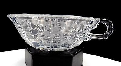 Fostoria Glass #325 Baroque Corsage Clear Floral Handled 6 1/4  Nappy 1935-1959 • 18.81£