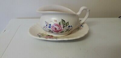 Retro...axe Vale..devon..small Floral Jug With Dish..table Ware..floral..set • 2.95£