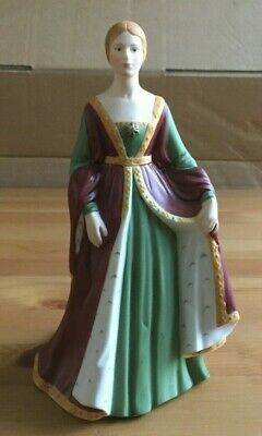 Franklin Porcelain Isabella Of Spain Hand Painted Figurine • 11.99£