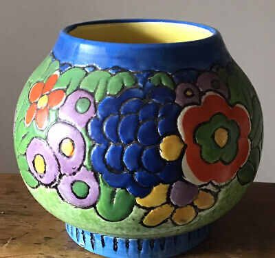 Crown Ducal Ware England Bright & Colourful Bowl • 10£
