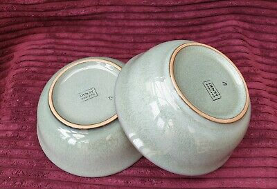 Two Denby Regency Green - CERIAL / SOUP BOWLS - 3 Available • 10£