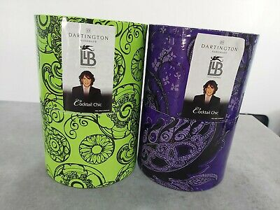 Llewelyn Bowen Cocktail Chic Glasses Handmade Dartington Crystal With Boxes  • 20£