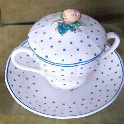Vintage Copeland Spode Polka Dot Covered Hot Chocolate Cup 1939 Excellent... • 5.50£
