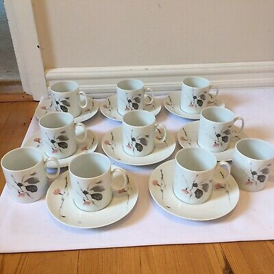 Thomas Of Germany Tea Set White Ceramic 10 X Cups & 8 X Saucers • 18£