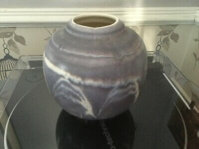 Aviemore Pottery Scotland Vase In Muted Mauve Blue Colouring • 7.99£