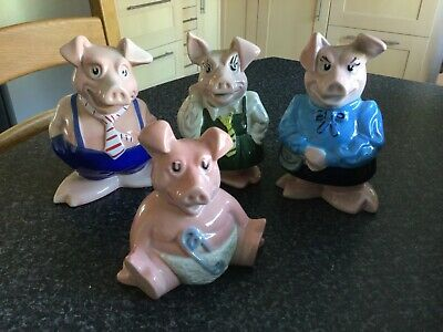 NatWest Pigs Annabel,Maxwell, Lady Hillary, Rare Woody, Excellent Inc Stoppers • 40£