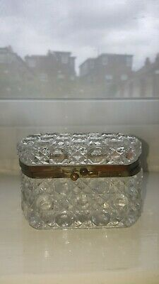 Antique French Baccarat Style Cut Crystal Box. • 9.99£