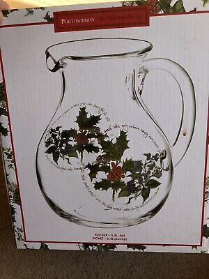 Portmeirion  Pitcher 3.4L The Holly And The Ivy • 6.40£