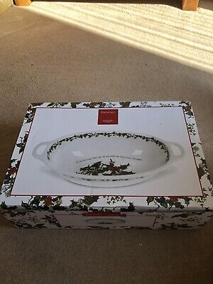 Portmeirion Handled Bowl - The Holly And The Ivy • 7.70£