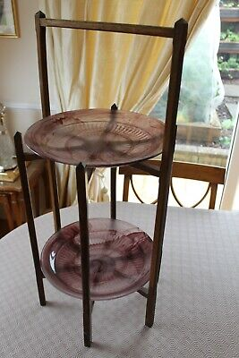 VERY RARE   DAVIDSON   1930s   TWO  TIER   CAKE  STAND • 40£