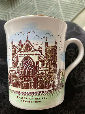 Exeter Cathedral, Commemorative Mug Gold Edge • 3.50£