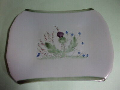 Antique Buchan Scottish Stoneware Pottery Tray, Dish, Thistle'. Rare. • 9.99£