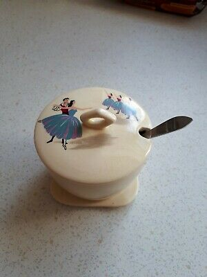 Beswick Ballet Covered Sugar Bowl With Spoon • 9.99£