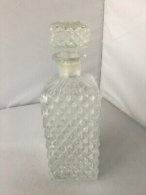 Vintage Pressed Glass Whisky Decanter • 2.99£