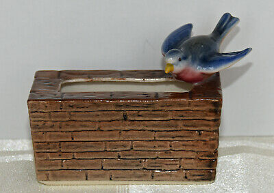 Branksome  China Hand Painted Small Trough With Bluebird 3 Ins Long • 5£