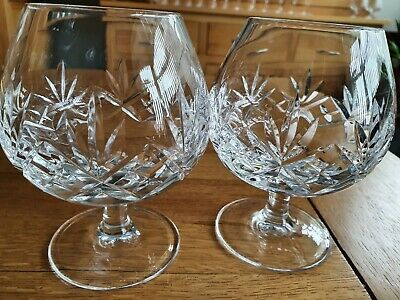 Crystal Whiskey Glasses X 2. H 5  W 3.5 . Used  • 10£