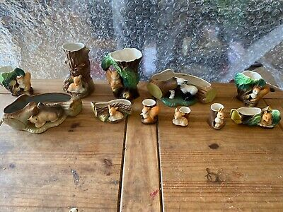 Eastgate Withernsea Pottery Fauna Posy Vase With Fawn Sitting Under A Tree • 0.99£