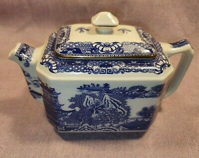 Vintage Ringtons Wade Teapot 1996 Lidded Blue & White In Great Condition • 12.99£