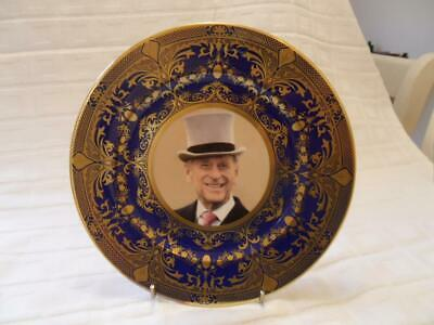 Caverswall Cobalt Blue With Gold Design Collectors Plate Phillip 85th Birthday • 16.99£