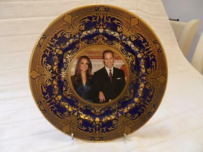 Caverswall Cobalt Blue With Gold Design Collectors Plate 2010 Royal Engagement • 16.99£