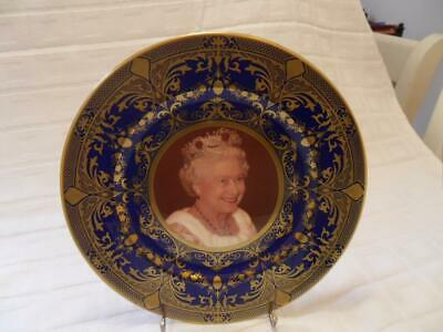 Caverswall Cobalt Blue With Gold Design Collectors Plate Queen's 85th Birthday • 16.99£