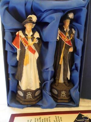 SAC Diamond Jubilee 2012 Queen Elizabeth & Duke Of Edinburgh Figures (Boxed) • 24.50£