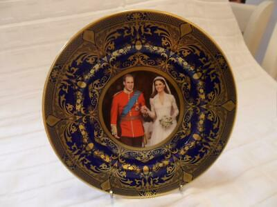Caverswall Cobalt Blue With Gold Design Collectors Plate 2011 Royal Wedding • 16.99£