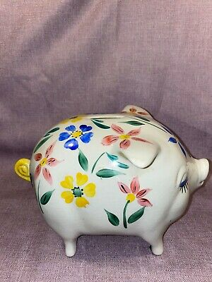 Vintage Large Arthur Wood Piggy Bank With Stopper OK Condition • 14.99£