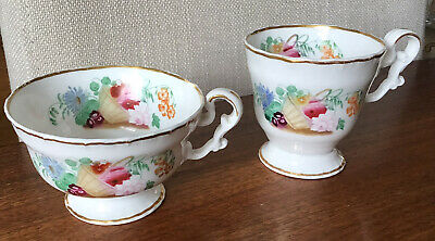 COPELAND AND GARRETT . 19 Th Century TEA. CUPS.PRETTY FLORAL PATTERN • 3.99£