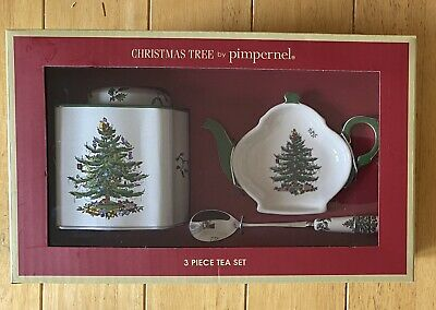 """Spode """"christmas Tree"""" 3 Piece Tea Set By Pimpernel ***new*** • 3.99£"""