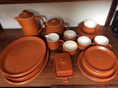 Honiton Vintage Orange Brown Pottery Collection • 10£