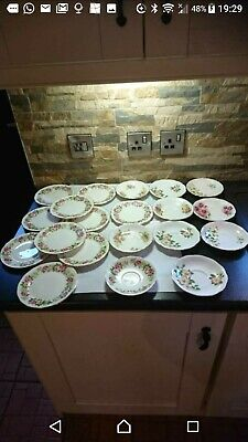 Vintage Bone China Colclough 10 Side Plates And 1 Saucer And 9 Other Saucers.  • 5.99£